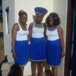 Our beautiful staff in traditional dress
