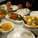Tofu bowl, beef rendang, mee goreng