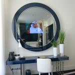 TV in the mirror!