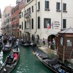Hotel Violino d' Oro from the canal bridge out front