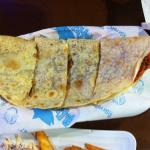 Grilled seafood quesadilla