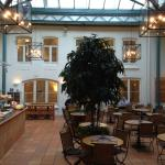 Nice atrium for breakfast and supper.