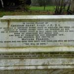Darby family gravestone in Holy Trinity Church