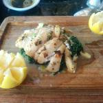 Sauteed Halibut with Spinach
