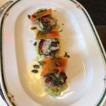 scallops with pumpkin ravioli