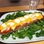 tartine chorizo poulet mozza
