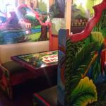 Folkloric art is throughout the restaurant