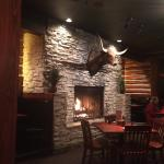 Clean, friendly, great server and a great value plus a nice fireplace.