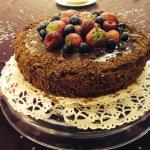 Home made - chocolate fruit cake