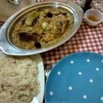 Yassa poulet with rice