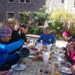 Breakfast before heading to Mt Toubkal