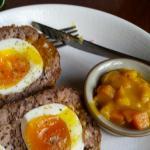 Venison scotch egg