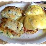 Amish potato cakes with eggs Benedict--wow!