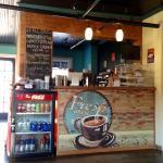 The welcoming coffee bar