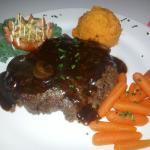 Chopped beef steak