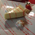 Home Made Cheese Cake!!! With Strawberry Cream