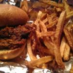 Pulled pork with fresh-cut fries