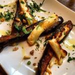 aubergine with halloumi cheese