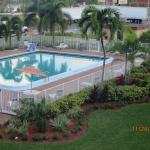Budgetel Inn pool area