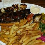 Mixed Platter of Kafta, Sheesh Tawook
