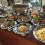 A lot of thai food