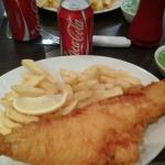 Fish&Chips, Coke and Mushy Peas!