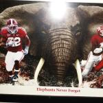 Love the stuff hanging on the walls...Roll Tide Roll!!!
