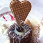 Coulant de chocolate al amor amor