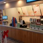 Large menu with abundant options.