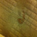 Dirty bedspread