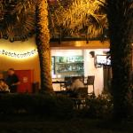 The Beachcomber cafe in the evening