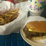 Double cheeseburger & fries