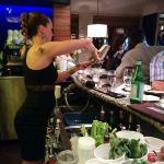 A very busy bartender!