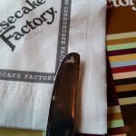 Food on knife