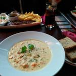 Arthur's seafood chowder... Delicious!