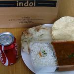 Lamb Madras, Naan, Papadum, and Coca cola for $10