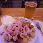 Generous portion of shrimp