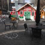 Santa's house in holiday market