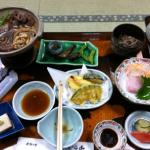 Delicious dinner at the ryokan