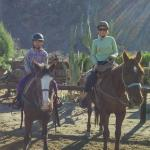 After the ride at Smoke Tree Stables