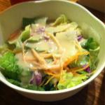 Salad with 'house' dressing - made with peanut butter!!