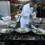 Fresh meals prepared during Festival Under the Lights