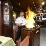 Flambiertes Steak