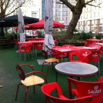 Outdoor tables , lovely in summer