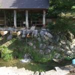唐臼小屋 水力利用の陶土を砕く装置 展示用