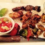 Kabob sampler (chicken, beef and vegetables)