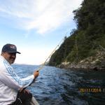 pescando en el nahuel huapi