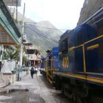 Village built around the train track