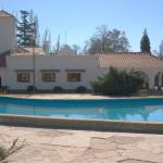 Pool and the back of the Hacienda