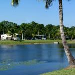 The central pond at Naples Motorcoach Resort.